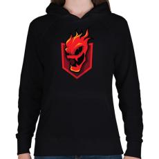 PRINTFASHION Lava - Női kapucnis pulóver - Fekete