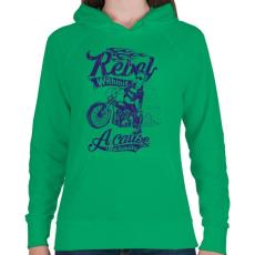 PRINTFASHION Lázadó - Női kapucnis pulóver - Zöld