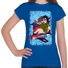 PRINTFASHION Légierő - Női póló - Királykék