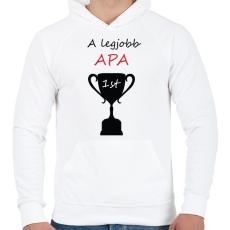 PRINTFASHION legjobb apa - Férfi kapucnis pulóver - Fehér