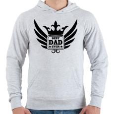 PRINTFASHION Legjobb Apa! - Férfi kapucnis pulóver - Sport szürke