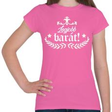 PRINTFASHION Legjobb barát - Női póló - Rózsaszín