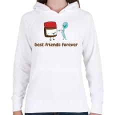 PRINTFASHION Legjobb Barátok Örökké - Női kapucnis pulóver - Fehér