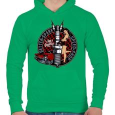 PRINTFASHION Legjobb szikra - Férfi kapucnis pulóver - Zöld
