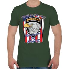 PRINTFASHION Levegőben - Férfi póló - Katonazöld