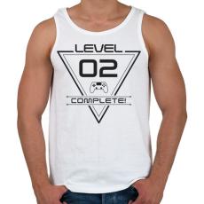 PRINTFASHION level-complete-02-gray - Férfi atléta - Fehér