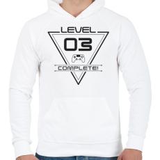 PRINTFASHION level-complete-03-gray - Férfi kapucnis pulóver - Fehér