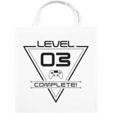 PRINTFASHION level-complete-03-gray - Vászontáska - Fehér