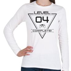 PRINTFASHION level-complete-04-gray - Női hosszú ujjú póló - Fehér