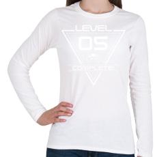 PRINTFASHION level-complete-05-white - Női hosszú ujjú póló - Fehér