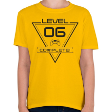 PRINTFASHION level-complete-06-grey - Gyerek póló - Sárga
