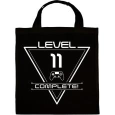 PRINTFASHION level-complete-11-white - Vászontáska - Fekete
