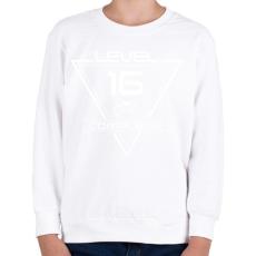 PRINTFASHION level-complete-16-white - Gyerek pulóver - Fehér