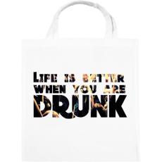 PRINTFASHION Life is better. - Vászontáska - Fehér