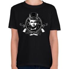 PRINTFASHION Lincoln - Vámpírvadász - Gyerek póló - Fekete