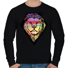 PRINTFASHION Liony - Férfi pulóver - Fekete