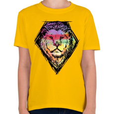 PRINTFASHION Liony - Gyerek póló - Sárga