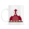 PRINTFASHION little red bird - Bögre - Fehér