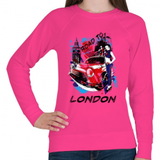 PRINTFASHION London utjain - Női pulóver - Fukszia