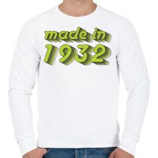 PRINTFASHION made-in-1932-green-grey - Férfi pulóver - Fehér