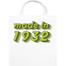 PRINTFASHION made-in-1932-green-grey - Vászontáska - Fehér
