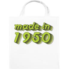 PRINTFASHION made-in-1950-green-grey - Vászontáska - Fehér