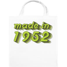 PRINTFASHION made-in-1952-green-grey - Vászontáska - Fehér