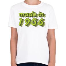 PRINTFASHION made-in-1956-green-grey - Gyerek póló - Fehér