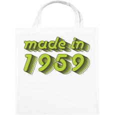 PRINTFASHION made-in-1959-green-grey - Vászontáska - Fehér