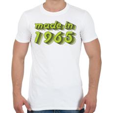 PRINTFASHION made-in-1965-green-grey - Férfi póló - Fehér