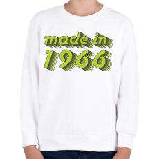 PRINTFASHION made-in-1966-green-grey - Gyerek pulóver - Fehér