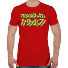 PRINTFASHION made-in-1967-green-grey - Férfi póló - Piros