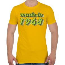 PRINTFASHION made-in-1968-green-grey - Férfi póló - Sárga