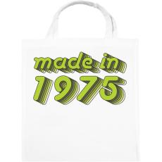 PRINTFASHION made-in-1975-green-grey - Vászontáska - Fehér