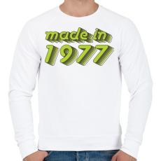 PRINTFASHION made-in-1977-green-grey - Férfi pulóver - Fehér