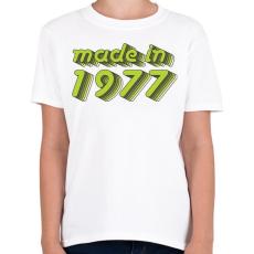 PRINTFASHION made-in-1977-green-grey - Gyerek póló - Fehér