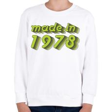 PRINTFASHION made-in-1978-green-grey - Gyerek pulóver - Fehér