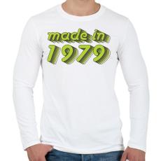 PRINTFASHION made-in-1979-green-grey - Férfi hosszú ujjú póló - Fehér