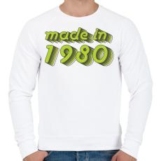PRINTFASHION made-in-1980-green-grey - Férfi pulóver - Fehér