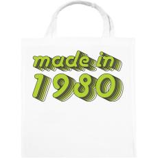 PRINTFASHION made-in-1980-green-grey - Vászontáska - Fehér