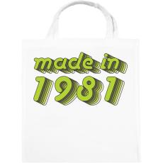 PRINTFASHION made-in-1981-green-grey - Vászontáska - Fehér