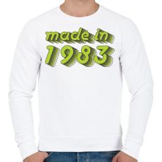 PRINTFASHION made-in-1983-green-grey - Férfi pulóver - Fehér