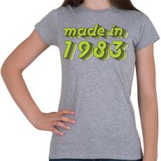 PRINTFASHION made-in-1983-green-grey - Női póló - Sport szürke