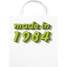 PRINTFASHION made-in-1984-green-grey - Vászontáska - Fehér