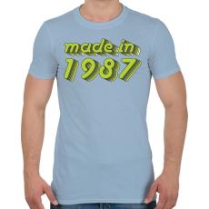 PRINTFASHION made-in-1987-green-grey - Férfi póló - Világoskék