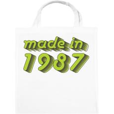 PRINTFASHION made-in-1987-green-grey - Vászontáska - Fehér