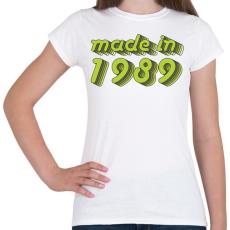 PRINTFASHION made-in-1989-green-grey - Női póló - Fehér