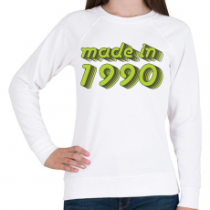 PRINTFASHION made-in-1990-green-grey - Női pulóver - Fehér