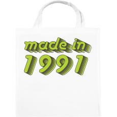 PRINTFASHION made-in-1991-green-grey - Vászontáska - Fehér