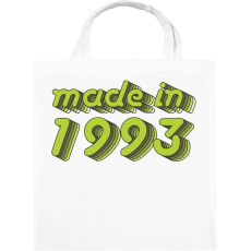 PRINTFASHION made-in-1993-green-grey - Vászontáska - Fehér